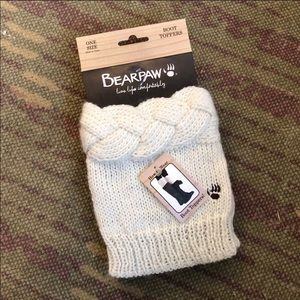 NWT Bearpaw Chunky Knit Boot Toppers - One Size